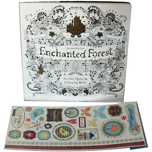 Enchanted Forest Adult Coloring Book An Inky Quest And Features A Thicker High Quality Paper That Prevents Ink Saturation For Use With